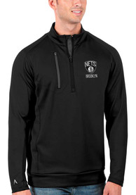 Brooklyn Nets Antigua Generation 1/4 Zip Pullover - Black