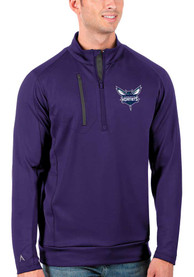 Charlotte Hornets Antigua Generation 1/4 Zip Pullover - Purple