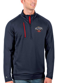 New Orleans Pelicans Antigua Generation 1/4 Zip Pullover - Navy Blue