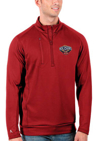 New Orleans Pelicans Antigua Generation 1/4 Zip Pullover - Red