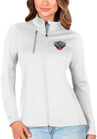 New Orleans Pelicans Womens Antigua Generation Light Weight Jacket - White