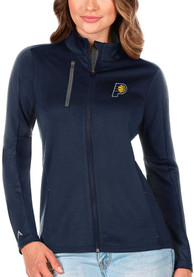 Indiana Pacers Womens Antigua Generation Light Weight Jacket - Navy Blue