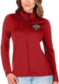New Orleans Pelicans Womens Antigua Generation Light Weight Jacket - Red