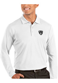 Brooklyn Nets Antigua Tribute Polo Shirt - White