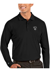Brooklyn Nets Antigua Tribute Polo Shirt - Black