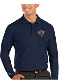 New Orleans Pelicans Antigua Tribute Polo Shirt - Navy Blue