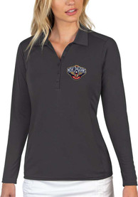 New Orleans Pelicans Womens Antigua Tribute Polo Shirt - Grey