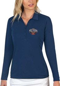 New Orleans Pelicans Womens Antigua Tribute Polo Shirt - Navy Blue