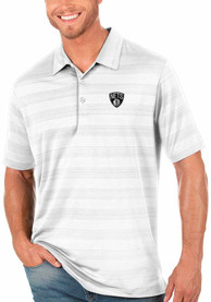 Brooklyn Nets Antigua Compass Polo Shirt - White