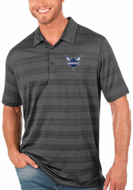 Charlotte Hornets Antigua Compass Polo Shirt - Grey