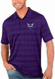 Charlotte Hornets Antigua Compass Polo Shirt - Purple
