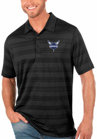 Charlotte Hornets Antigua Compass Polo Shirt - Black