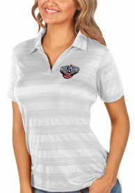 New Orleans Pelicans Womens Antigua Compass Polo Shirt - White