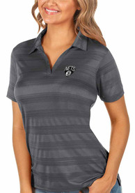 Brooklyn Nets Womens Antigua Compass Polo Shirt - Grey