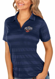 New Orleans Pelicans Womens Antigua Compass Polo Shirt - Navy Blue