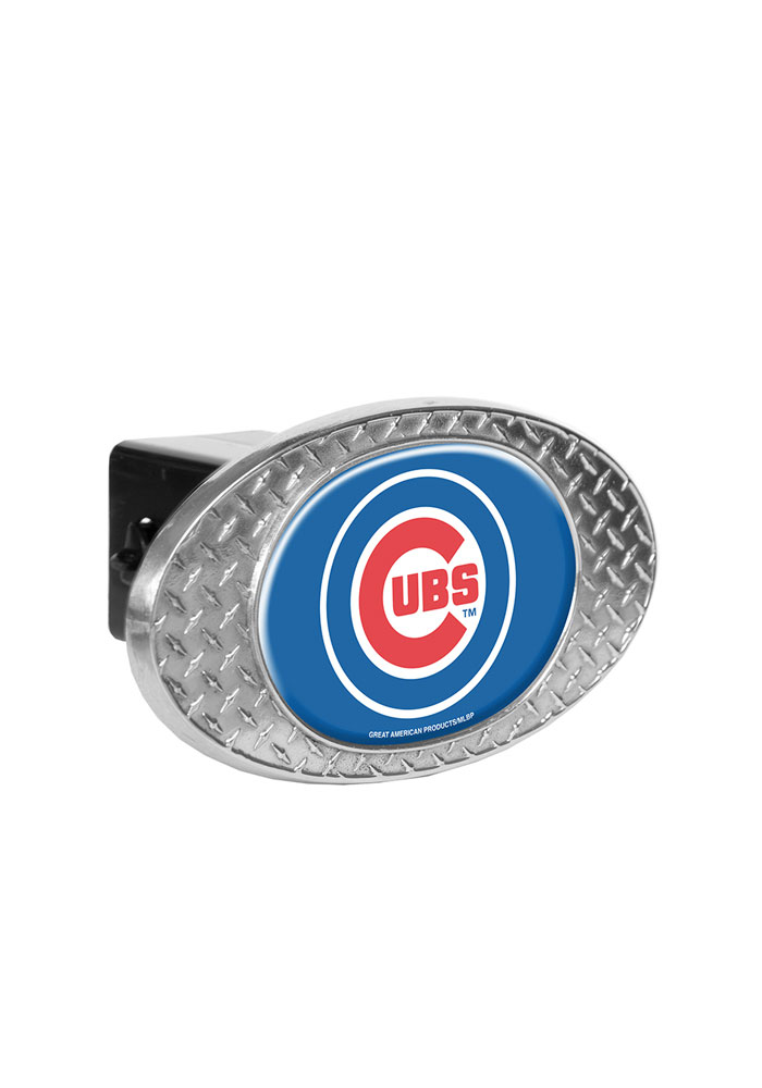 Chicago Cubs Diamond Plate Car Accessory Hitch Cover - Image 1