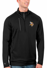 Minnesota Vikings Antigua Generation 1/4 Zip Pullover - Black