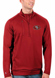 San Francisco 49ers Antigua Generation 1/4 Zip Pullover - Red