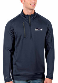 Seattle Seahawks Antigua Generation 1/4 Zip Pullover - Navy Blue