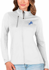 Detroit Lions Womens Antigua Generation Light Weight Jacket - White