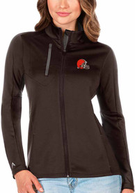 Cleveland Browns Womens Antigua Generation Light Weight Jacket - Brown