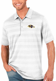Baltimore Ravens Antigua Compass Polo Shirt - White