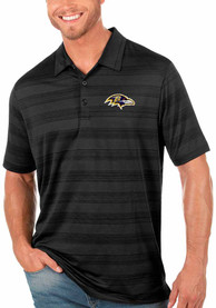 Baltimore Ravens Antigua Compass Polo Shirt - Black