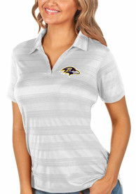 Baltimore Ravens Womens Antigua Compass Polo Shirt - White