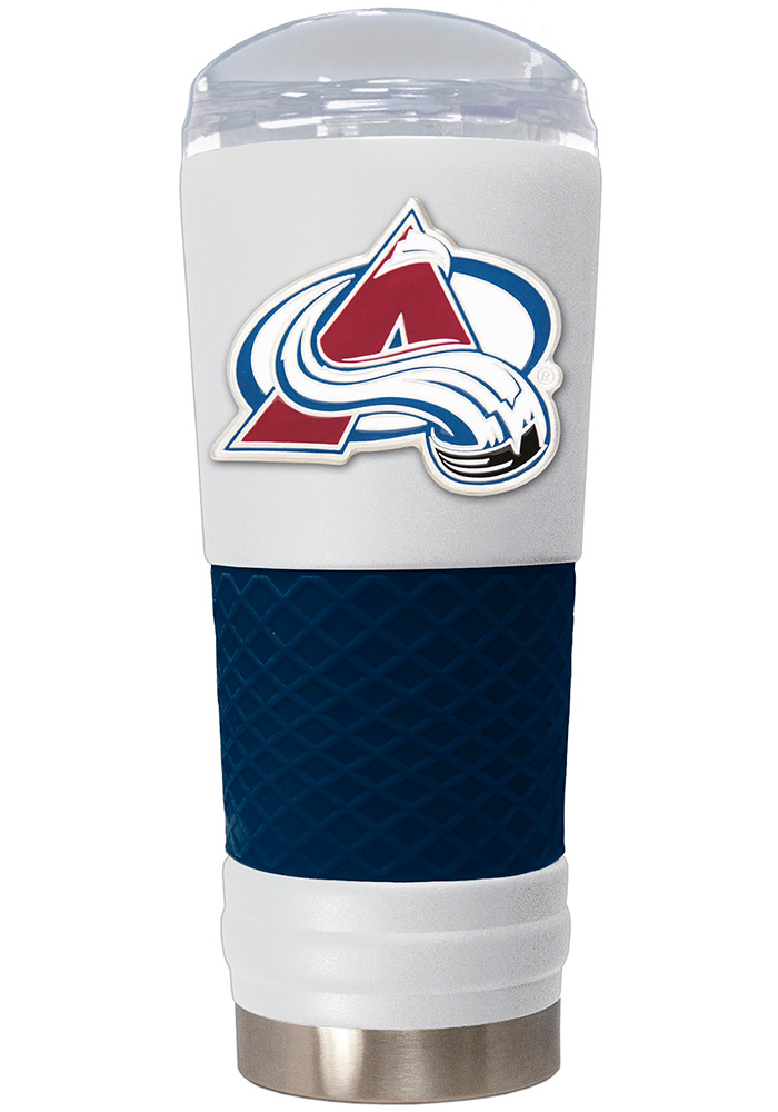 Colorado Avalanche 24oz Powder Coated Stainless Steel Tumbler - White - Image 1