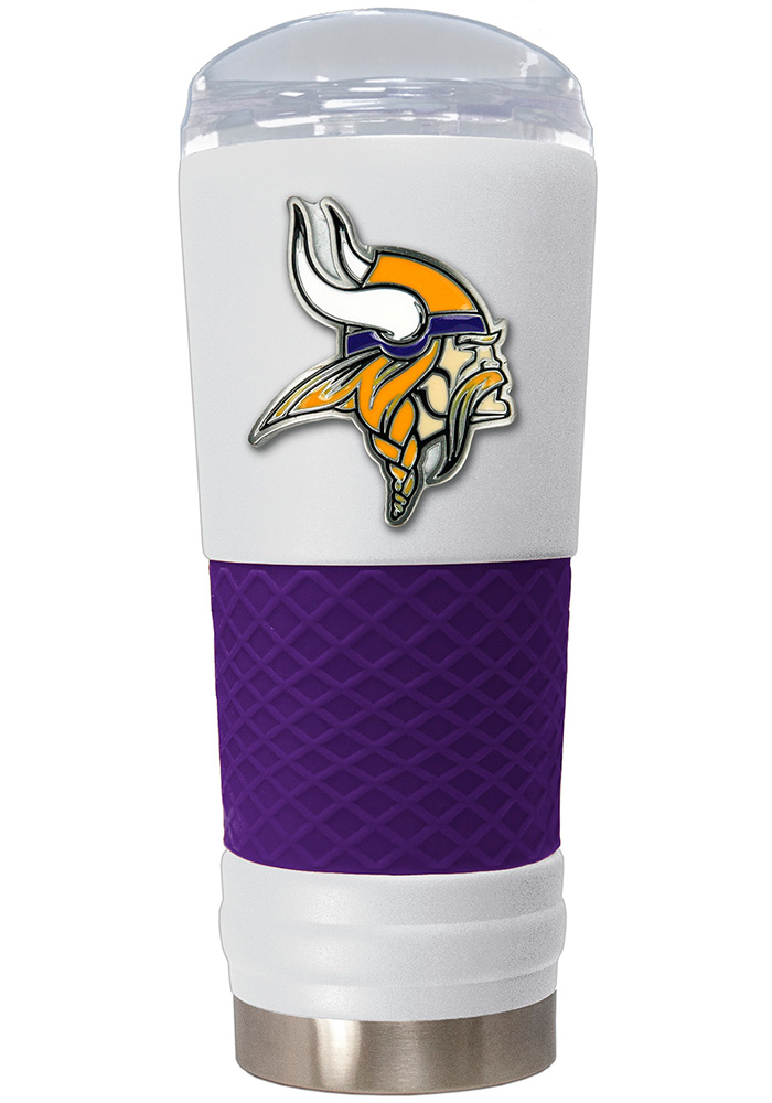 Minnesota Vikings 24oz Powder Coated Stainless Steel Tumbler - White - Image 1