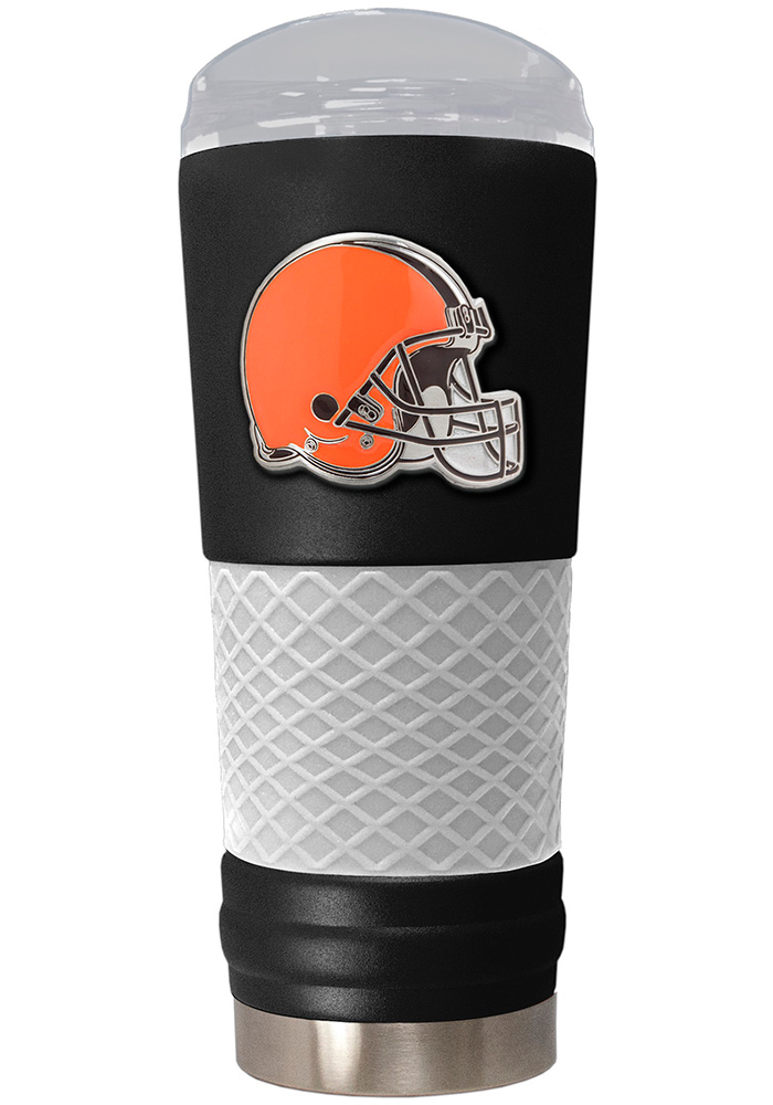 Cleveland Browns 24oz Powder Coated Stainless Steel Tumbler - Black - Image 1