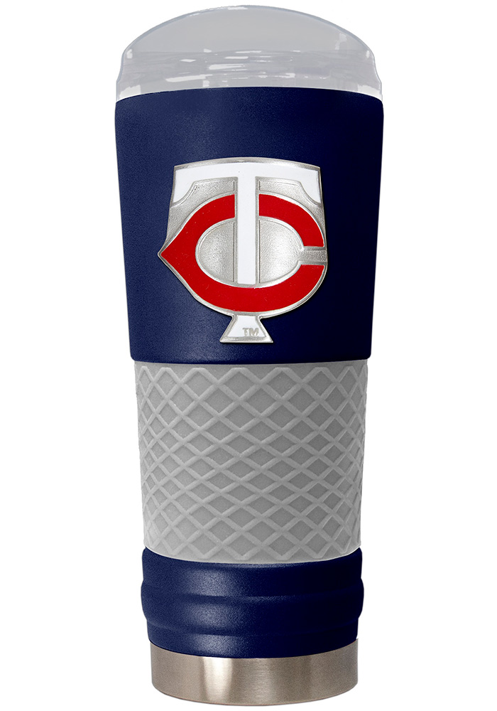 Minnesota Twins 24oz Powder Coated Stainless Steel Tumbler - Blue - Image 1