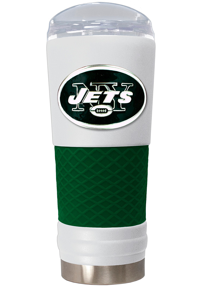 New York Jets 24oz Powder Coated Stainless Steel Tumbler - White - Image 1