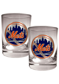 New York Mets 2 Piece Rock Glass