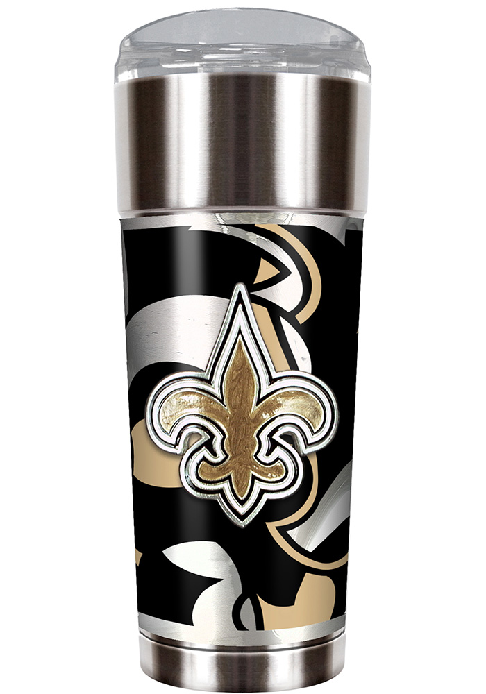 New Orleans Saints 30oz Stainless Steel Tumbler - Silver - Image 1