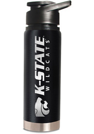 K-State Wildcats Black 20oz Hydration Stainless Steel Tumbler - Black