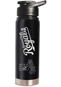Kansas City Royals Black 20oz Hydration Stainless Steel Tumbler - Black