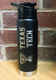 Texas Tech Red Raiders Black 20oz Hydration Stainless Steel Tumbler - Black
