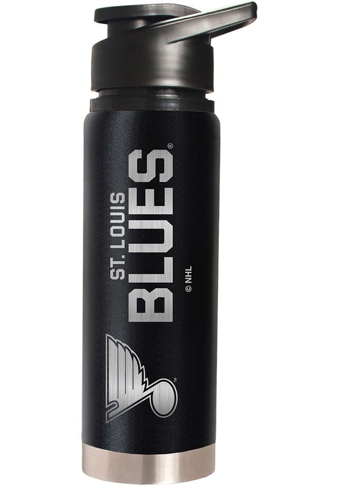 St Louis Blues Black 20oz Hydration Stainless Steel Tumbler - Black