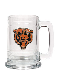 Chicago Bears 15oz Glass Logo Stein