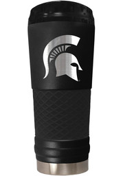 Michigan State Spartans Stealth 24oz Powder Coated Stainless Steel Tumbler - Black