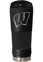 Wisconsin Badgers Stealth 24oz Powder Coated Stainless Steel Tumbler - Black