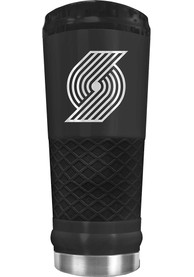 Portland Trail Blazers Stealth 24oz Powder Coated Stainless Steel Tumbler - Black