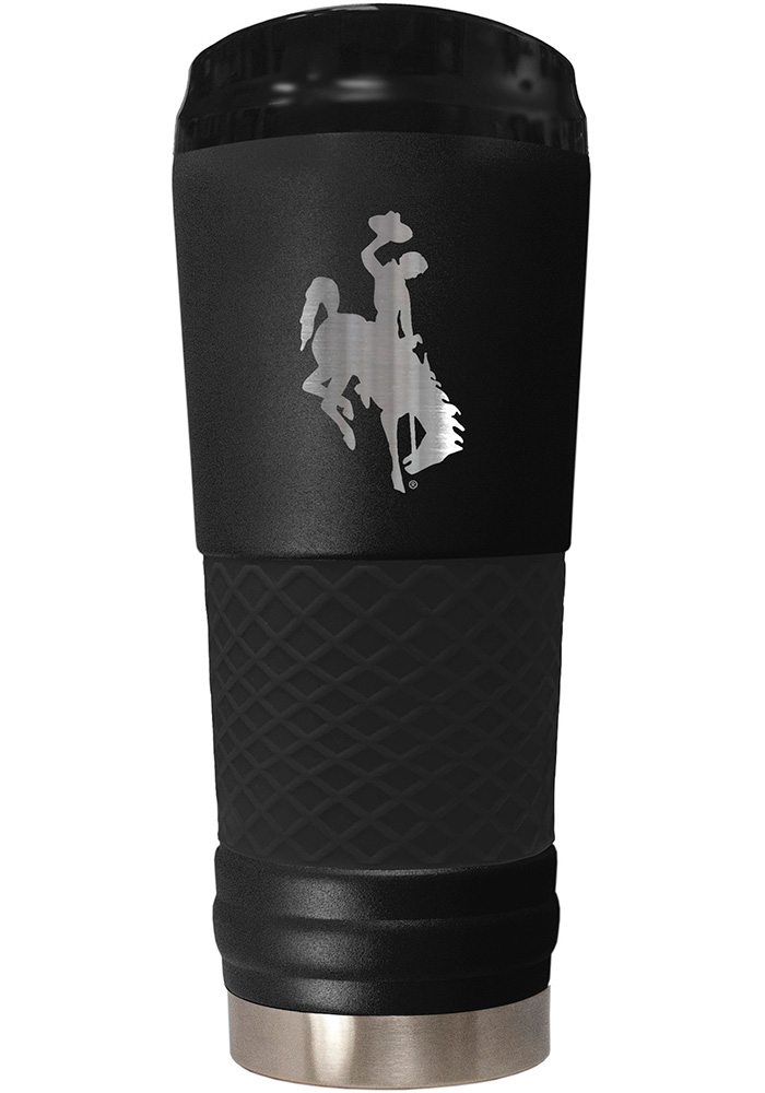 Wyoming Cowboys Stealth 24oz Powder Coated Stainless Steel Tumbler - Black