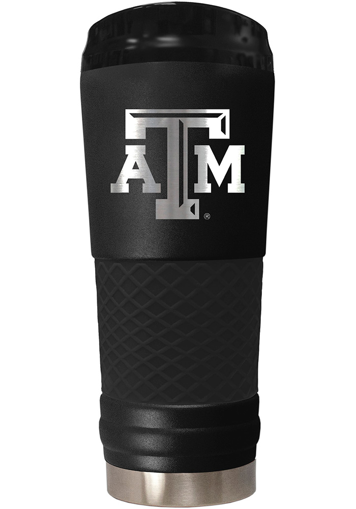 Texas A&M Aggies Stealth 24oz Powder Coated Stainless Steel Tumbler - Black - Image 1