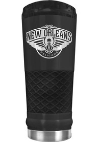 New Orleans Pelicans Stealth 24oz Powder Coated Stainless Steel Tumbler - Black