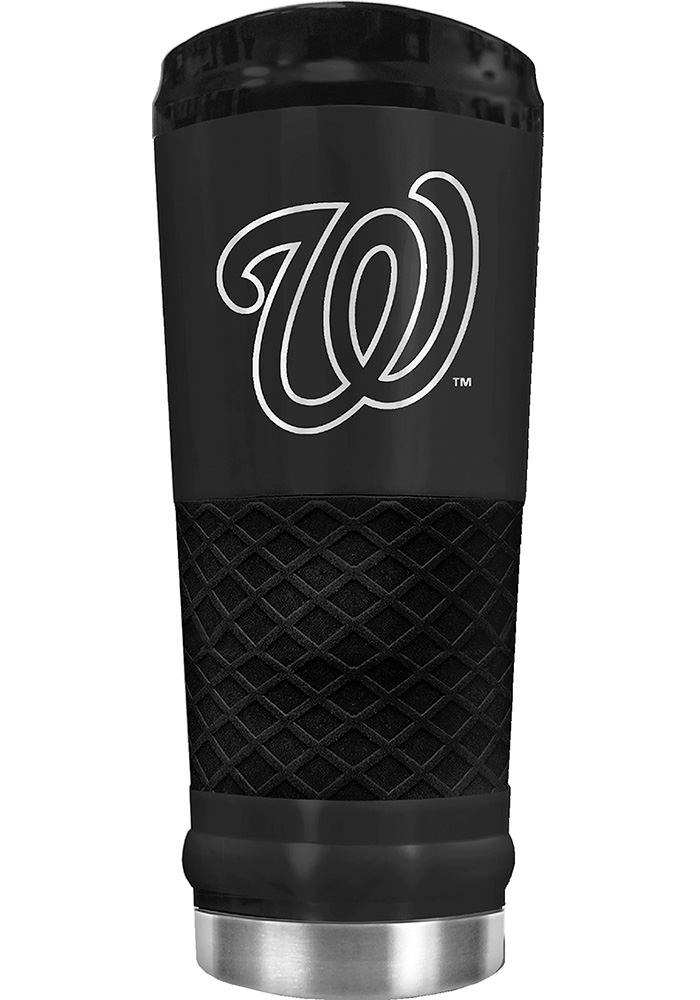 Washington Nationals Stealth 24oz Powder Coated Stainless Steel Tumbler - Black - Image 1