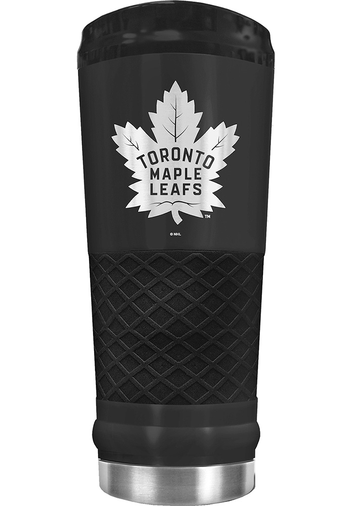 Toronto Maple Leafs Stealth 24oz Powder Coated Stainless Steel Tumbler - Black - Image 1