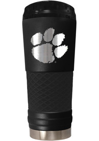 Clemson Tigers Stealth 24oz Powder Coated Stainless Steel Tumbler - Black
