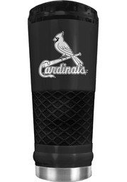 St Louis Cardinals Stealth 24oz Powder Coated Stainless Steel Tumbler - Black